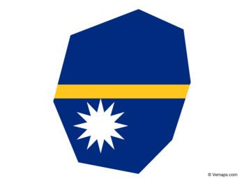 Flag Map of Nauru