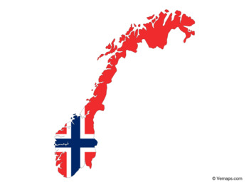 Flag Map of Norway