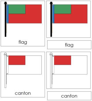 Flag Nomenclature Cards (Red)