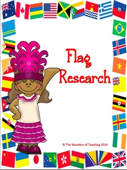 Flag Research Bundle: organizer, rubrics, and check lists