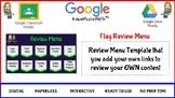 Flag Review Menu Board