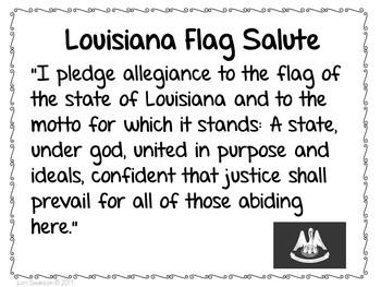 Flag Salute- LOUISIANA
