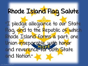 Flag Salute- RHODE ISLAND