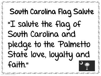 Flag Salute- SOUTH CAROLINA