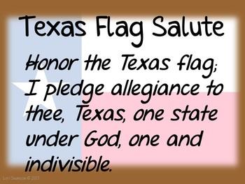 Flag Salute- TEXAS