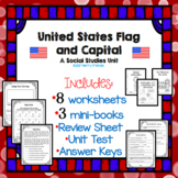 American Flag and Capital Worksheets Test and Answer Keys