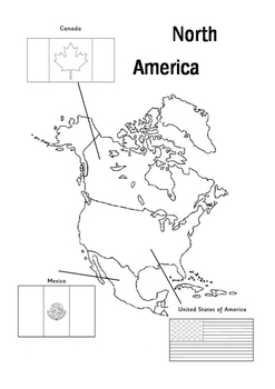 Flag and map colouring pages