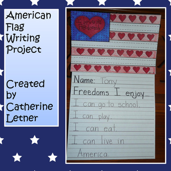 Patriotic Flag Writing and Craft
