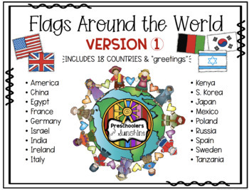 Flags Around the World [Coloring Pages]