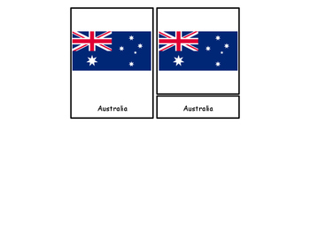 Flags Around the World Three Part Cards