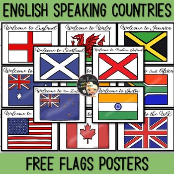 Flags English Speaking Countries