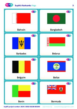Flags Flashcards in English