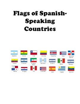 Flags  Spanish-speaking Countries