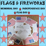 Flags and Fireworks-Evolution of the American Flag Color by #