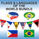 Flags and Languages of the World Bundle - Clipart, Posters