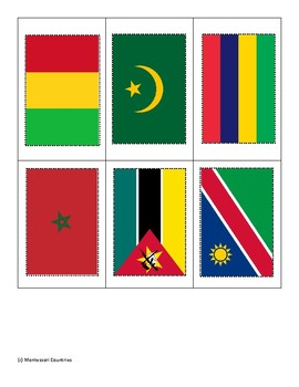Flags of Africa ~ Pin Poke Cards ~ Fine Motor Skills
