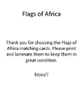 Flags of Africa matching cards