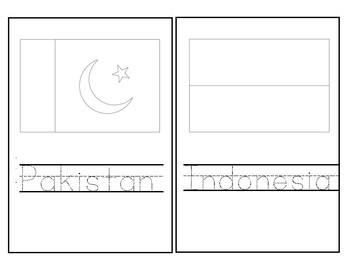 Flags of Asia Coloring Booklet