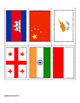 Flags of Asia ~ Pin Poke Cards ~ Fine Motor Skills