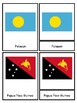 Flags of Australia and Oceania 3 part Montessori Cards