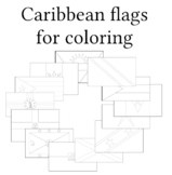 Flags of Caribbean for coloring