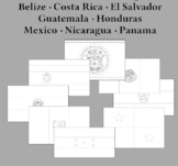 Flags of Central America for Coloring