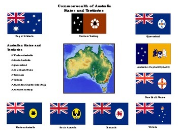 Flags of Commonwealth of Australia States and Territories: