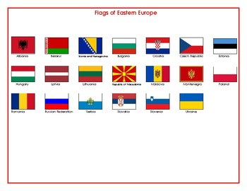 Flags of Eastern Europe Matching