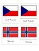 Flags of Europe (3 Part Montessori Cards)