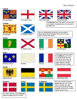Flags of Europe Handout