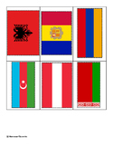 Flags of Europe ~ Pin Poke Cards ~ Fine Motor Skills