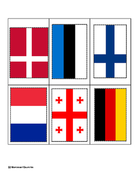 Flags of Europe ~ Pin Poke Cards ~ Fine Motor Skills