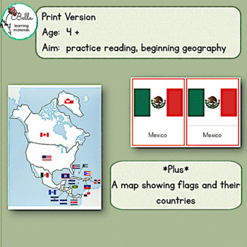 Flags of North America 3 - Part Cards
