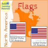 Flags of North America Self Correcting Reading Cards