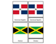 Flags of North America Three Part Cards