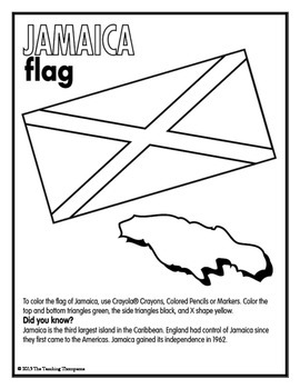 Flags of North and South American Country Coloring Pages and Worksheets