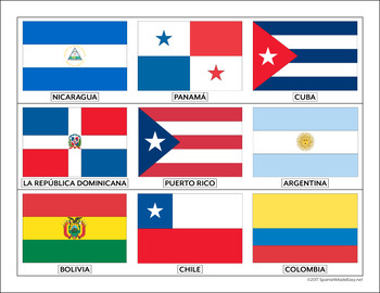 flags of spanish speaking countries bulletin board border by spanish