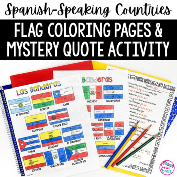 Flags of Spanish-Speaking Countries Coloring Sheets by Sra Cruz | TpT