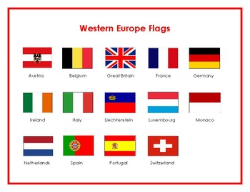 Flags of Western Europe Matching