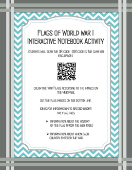 Flags of World War II Interactive Notebook Activity