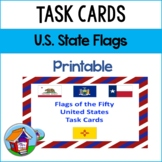 Flags of the 50 American States Task Cards