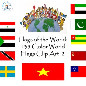 Flags of the World: 135 World Flags Clip Art
