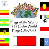 Flags of the World: 151 World Flags Clip Art 1