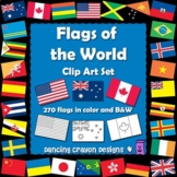 Flags of the World: 270 World Flags - Clipart Set