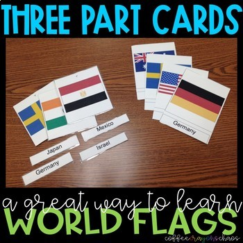 Flags of the World 3 Part Cards