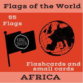 Flags of the World - Africa Flashcards and Small Cards