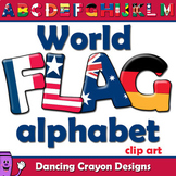 Flags of the World: Alphabet Letters Clip Art and Bulletin