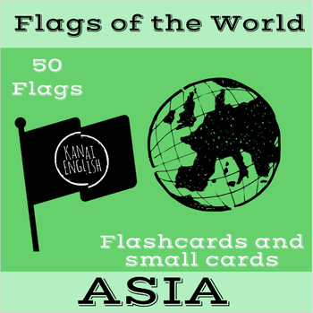 Flags of the World - Asia Flashcards and small cards