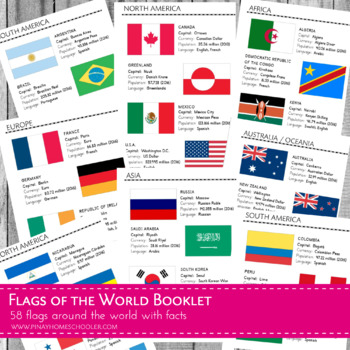 MontessoriLove  Flags of the World Booklet