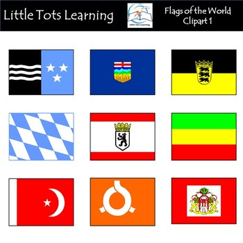 Flags of the World Clip Art: 151 World Flags Clip Art